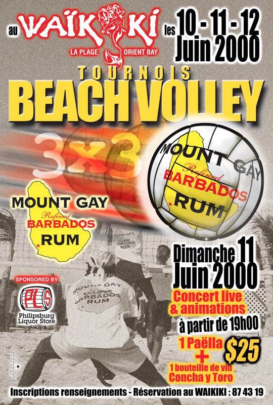 Tournois Beach Volley Waïkiki - Poster