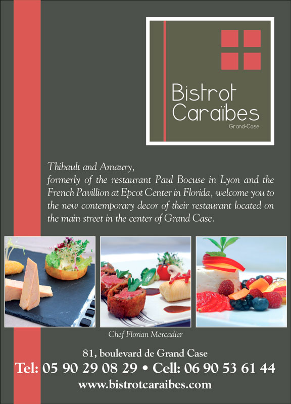 Bistrot Caraïbes - Press advertisements